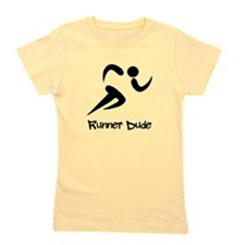 Runner Dude Black.png Girl's Tee