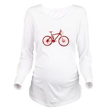 Mountain Bike Red.png Long Sleeve Maternity T-Shir