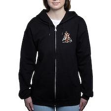 Templar Knight Red.png Women's Zip Hoodie