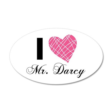 I Love Mr. Darcy Wall Decal