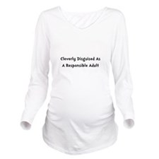Responsible Adult Black.png Long Sleeve Maternity