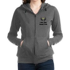I Am The Good Twin Black.png Women's Zip Hoodie