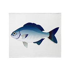 Blue Sea Chub Throw Blanket