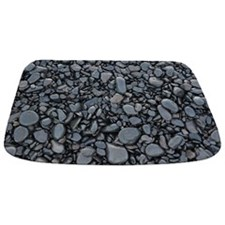 Black Smooth Stones mat Bathmat