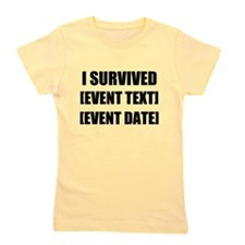 I Survived Personalize It! Girl's Tee