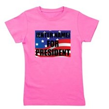 For President Personalize It! Girl's Tee