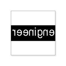 "Cool Engineer Square Sticker 3"" x 3"""