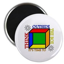 "Cute Outside of the box 2.25"" Magnet (10 pack)"