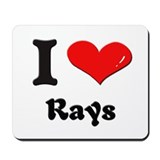 I love rays  Mousepad