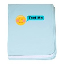 Text Me Smiley Face baby blanket