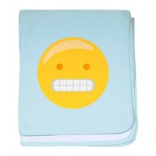 Forced Smile Emoticon baby blanket
