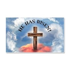 He Has Risen Rugged Cross With Car Magnet 20 x 12