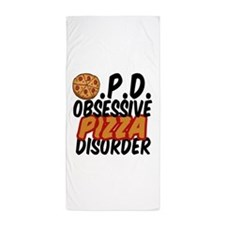Funny Pizza Beach Towel