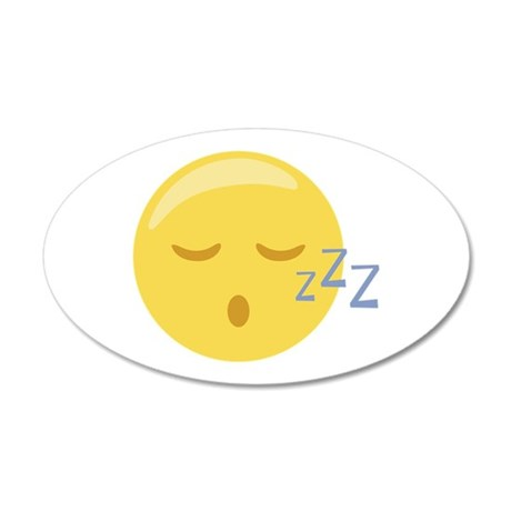 Sleepy Face Emoticon Wall Decal