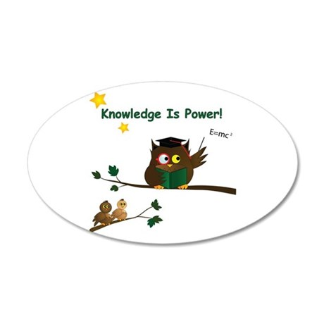 Teaching Wise Owl 20x12 Oval Wall Decal