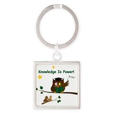 Teaching Wise Owl Square Keychain