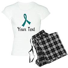 Personalized Teal Ribbon Aw Pajamas