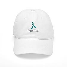 Personalized Teal Ribbon Awareness Baseball Cap