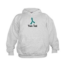 Personalized Teal Ribbon Awareness Hoodie