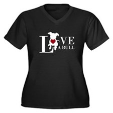 Love A Bull Spelled Out Plus Size T-Shirt