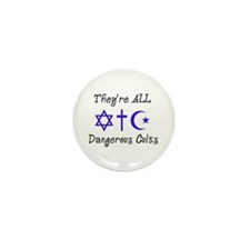 Dangerous Cults Mini Button (10 pack)