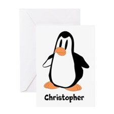 Personalized Penguin Design Greeting Cards