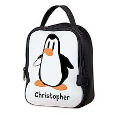 Personalized Penguin Design Neoprene Lunch Bag