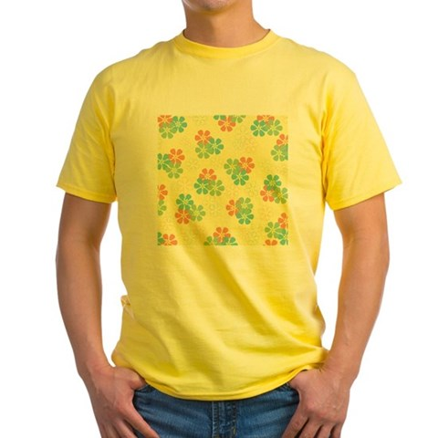 Spring Flowers on Yellow T-Shirt