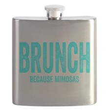 Brunch Because Mimosas Flask