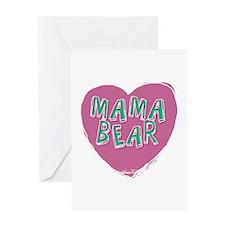 Mama Bear Heart Greeting Cards