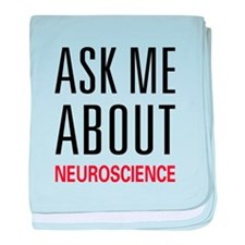 Ask Me Neuroscience baby blanket