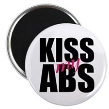 "Kiss My Abs 2.25"" Magnet (100 pack)"