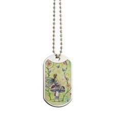 A Happy Place Flower Fairy and Ladybug Dog Tags