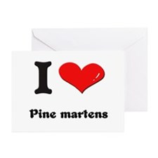 I love pine martens  Greeting Cards (Pk of 10)
