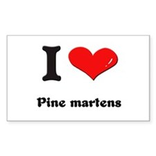 I love pine martens Rectangle Decal