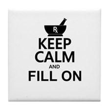 Keep Calm Fill On Tile Coaster