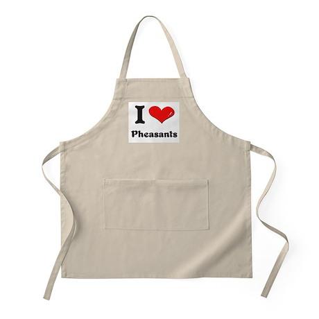 I love pheasants BBQ Apron