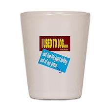 I Used To Jog-David Lee Roth/t-shirt Shot Glass