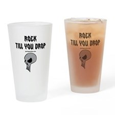 Rock Till You Drop Drinking Glass