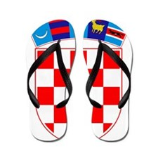 Croatia Coat of Arms Flip Flops