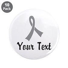 """Personalized Gray Ribbon Awa 3.5"""" Button (10 pack)"""