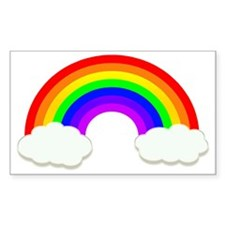 Rainbow in the clouds Decal