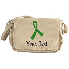 Personalized Green Ribbon Awareness Messenger Bag