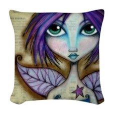 The Grumpy Faerie Woven Throw Pillow