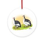 Pied Guineas Ornament (Round)