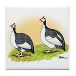 Pied Guineas Tile Coaster