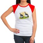 Pied Guineas Women's Cap Sleeve T-Shirt