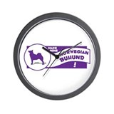 Make Mine Buhund Wall Clock