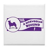 Make Mine Buhund Tile Coaster