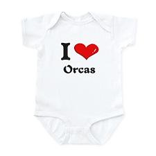 I love orcas  Infant Bodysuit